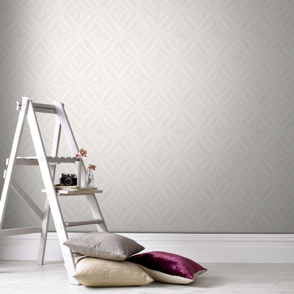 Graham and Brown Glitz Geo Taupe 104113 Wallpaper